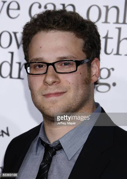 Seth Rogen arrives at the Los Angeles Premiere of Zack And Miri Make A Porno at the Grauman's Chinese Theater on October 20 2008 in Los Angeles...