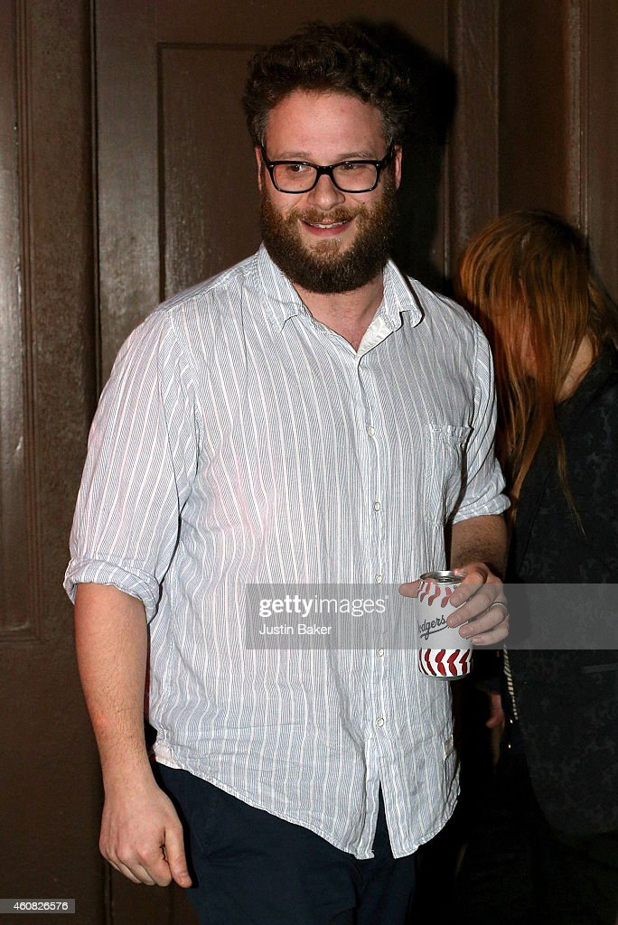 Seth Rogen attends Sony Pictures' 'The Interview' opening on Christmas Day at Cinefamily in Los Angeles, CA. Sony hackers have released stolen information and threatened attacks on theaters which screened the film.