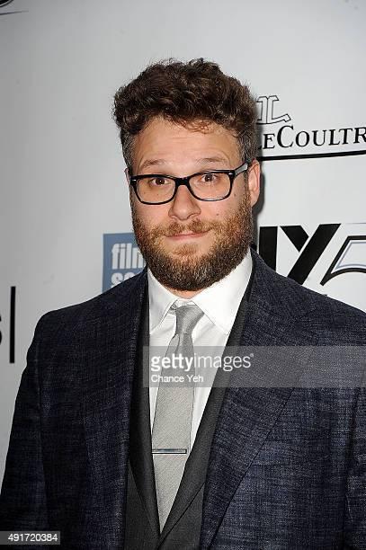 Seth Rogen attends the 53rd New York Film Festival 'STEVE JOBS' screening at Alice Tully Hall on October 3 2015 in New York City