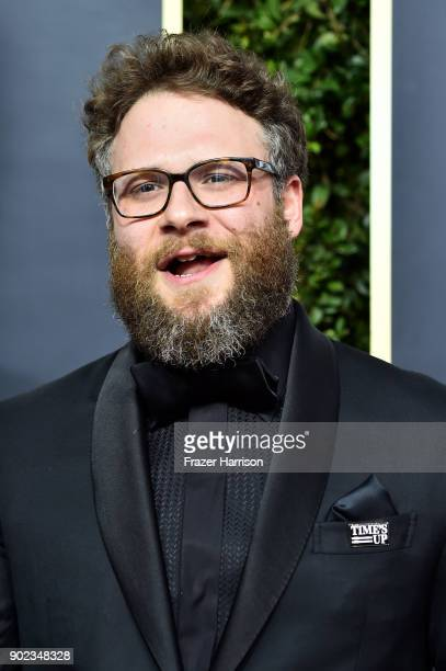 Seth Rogen attends The 75th Annual Golden Globe Awards at The Beverly Hilton Hotel on January 7 2018 in Beverly Hills California