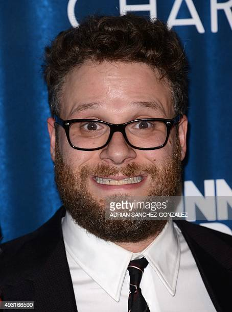 Seth Rogen attends the Hilarity for Charity's Variety Sho in Los Angeles California on October 17 2015 AFP PHOTO /CHRIS DELMAS