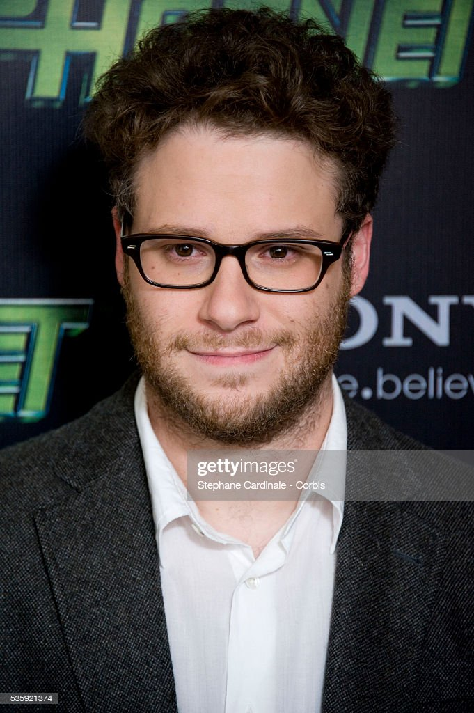 Seth Rogen attends the photocall for the Michel Gondry film 'The Green Hornet', in Paris.