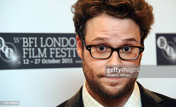 Seth Rogen attends the premiere of 50/50 at the 55th BFI London Film Festival at Odeon Leicester Square on October 13 2011 in London England