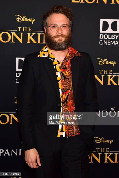 Seth Rogen attends the premiere of Disney's The Lion King at Dolby Theatre on July 09 2019 in Hollywood California