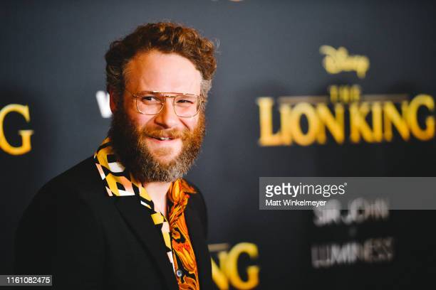 """Seth Rogen attends the premiere of Disney's """"The Lion King"""" at Dolby Theatre on July 09, 2019 in Hollywood, California."""