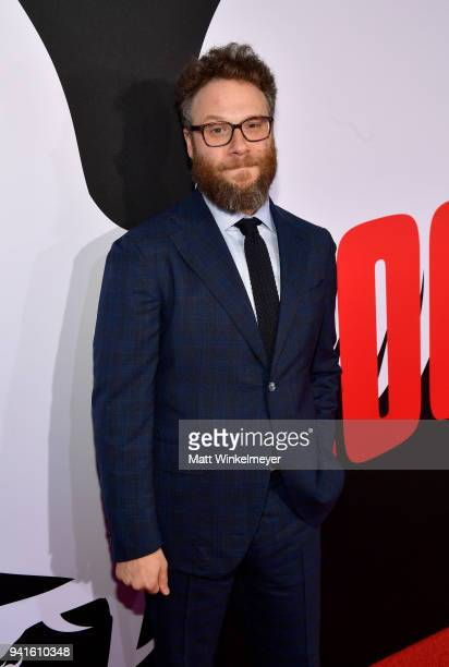 Seth Rogen attends the premiere of Universal Pictures' 'Blockers' at Regency Village Theatre on April 3 2018 in Westwood California