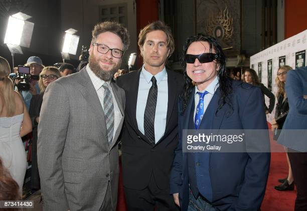 Seth Rogen Greg Sestero and Tommy Wiseau attend 'The Disaster Artist' Presented by Audi at AFI Festival at The Hollywood Roosevelt Hotel on November...