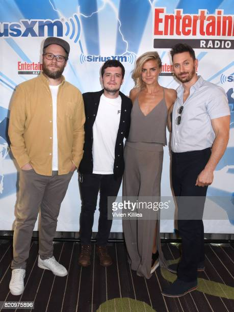 Seth Rogen Josh Hutcherson Eliza Coupe and Derek Wilson attend SiriusXM's Entertainment Weekly Radio Channel Broadcasts From Comic Con 2017 at Hard...