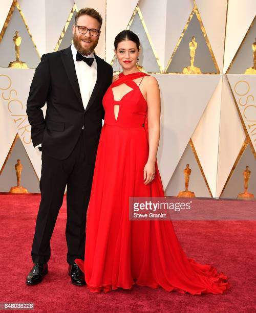 Seth Rogen Lauren Miller arrives at the 89th Annual Academy Awards at Hollywood Highland Center on February 26 2017 in Hollywood California