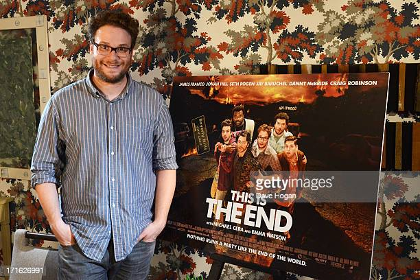 Seth Rogen poses for a photocall for 'This Is The End' at The Soho Hotel on June 24 2013 in London England