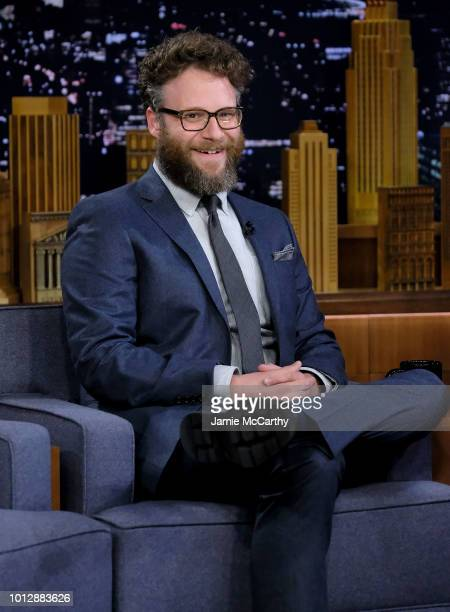 Seth Rogen visits The Tonight Show Starring Jimmy Fallon at Rockefeller Center on August 7 2018 in New York City