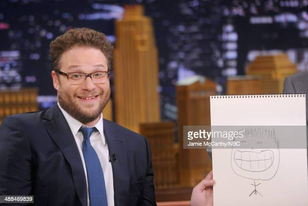 Seth Rogen Visits 'The Tonight Show Starring Jimmy Fallon' at Rockefeller Center on May 6 2014 in New York City