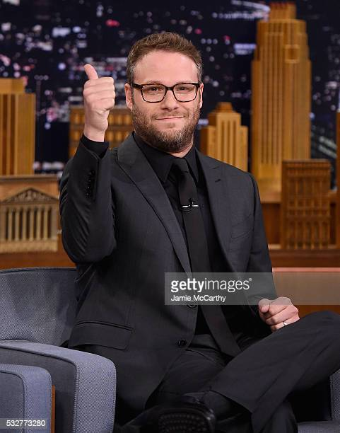 Seth Rogen visits 'The Tonight Show Starring Jimmy Fallon'at Rockefeller Center on May 19 2016 in New York City