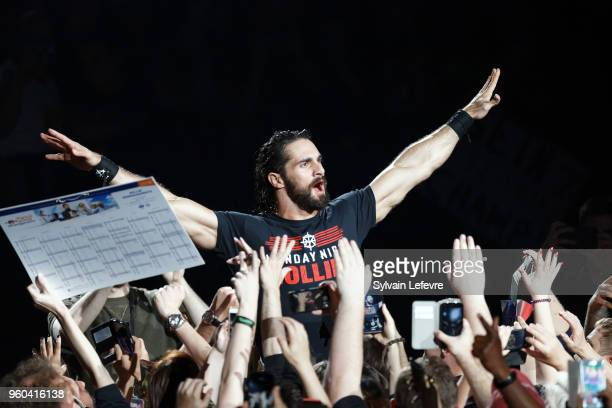 Seth Rollins attends WWE Live AccorHotels Arena Popb Paris Bercy on May 19 2018 in Paris France