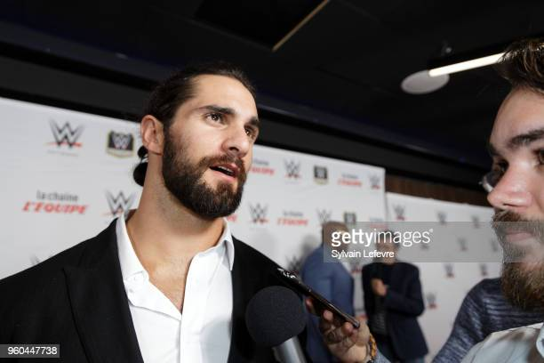 Seth Rollins attends WWE Wrestling preshow on May 19 2018 in Paris France