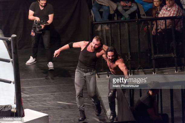Seth Rollins competes in the ring against Dean Ambrose during the WWE Live Show at Lanxess Arena on November 7 2018 in Cologne Germany