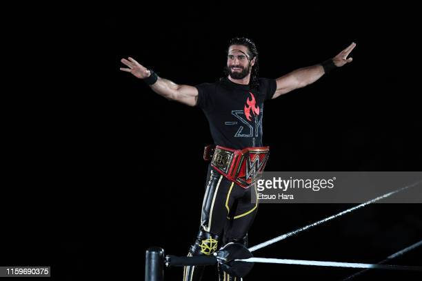 Seth Rollins enters the ring during the WWE Live Tokyo at Ryogoku Kokugikan on June 29 2019 in Tokyo Japan