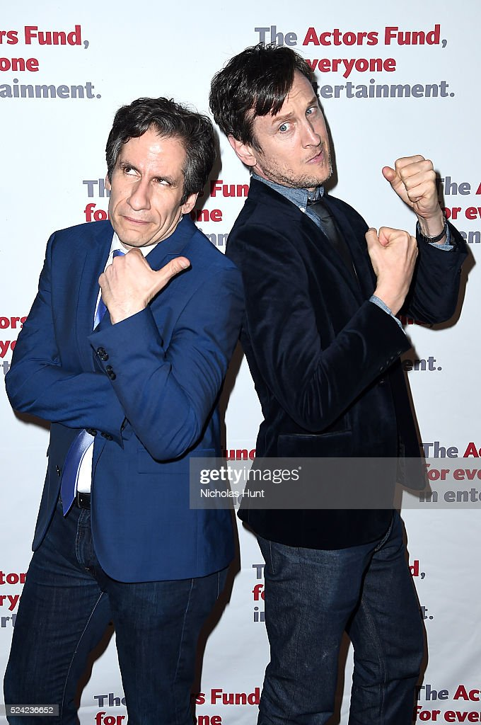 Seth Rudetsky and Jeff Puck attend The Actors Fund 2016 Gala at Marriott Marquis Times Square on April 25, 2016 in New York City.