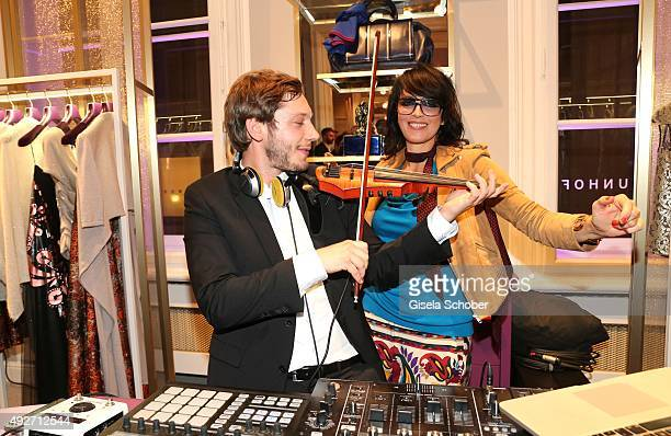 Seth Schwarz and Nena during the Talbot Runhof flagship boutique opening at Preysing Palais on October 14 2015 in Munich Germany