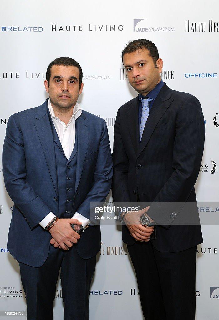 Seth Semilof and Haute Living CEO Kamal Hotchandani attend the Haute Living New York City Real Estate Summit on November 14, 2013 in New York City.