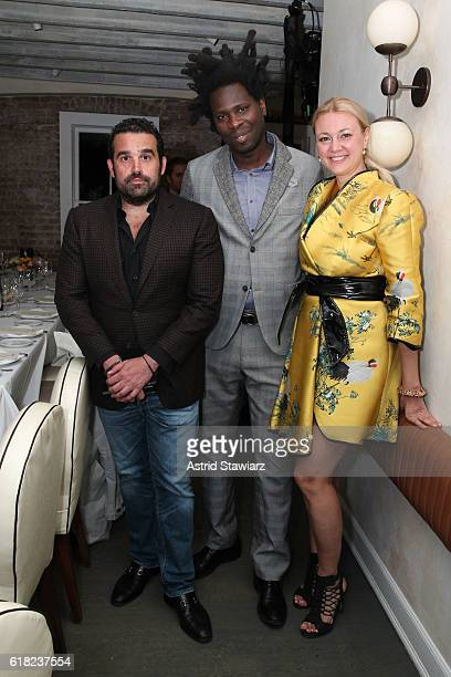 Seth Semilof Bradley Theodore and Alisa Roever attends the Haute Living Celebrates The H1 Colorblock Collection Official Launch At Mamo NYC on...