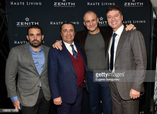 Seth Semilof Gennady Perepada Ronn Torossian and Edward Mermelstein attend the Haute Living And Zenith Honor Dolph Lundgren at Mr Chow in Tribeca on...