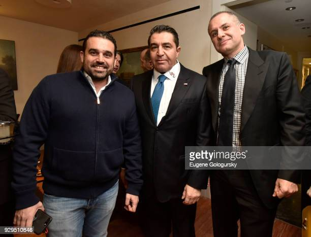 Seth Semilof Paolo Zampolli and Ronn Torossian attend the Ambassador Paolo Zampolli Reception on March 8 2018 in New York City