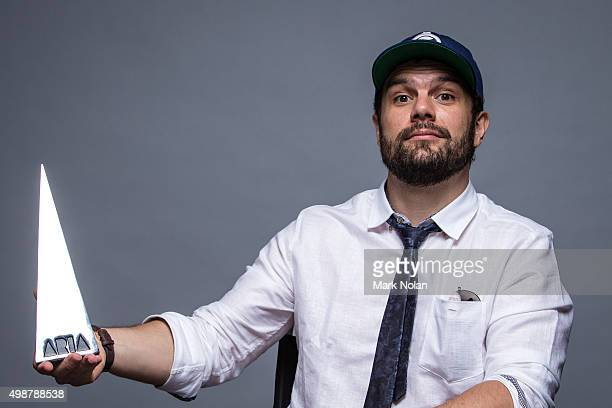 Seth Sentry poses for a portrait with an ARIA for Best Urban Album poses for a portrait during the 29th Annual ARIA Awards 2015 at The Star on...