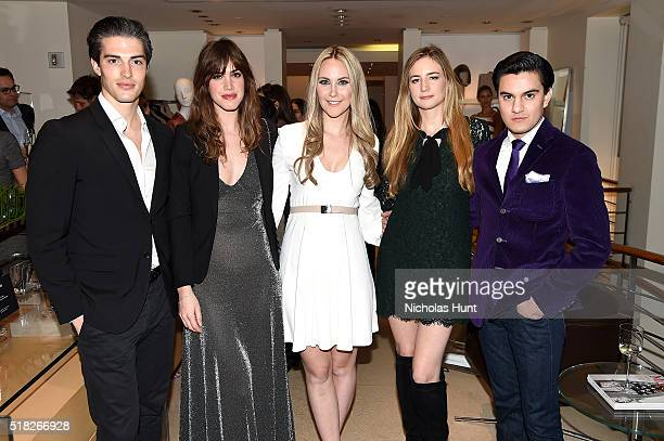 Seth Tringale Julia Loomis Elizabeth Kurpis Amanda Kahn and Kevin Michael Barba attend Max Mara's celebration of the YoungArts New York Inaugural...
