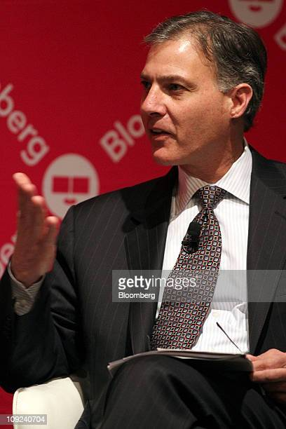 Seth Weinstein managing director and chief executive officer of Morgan Stanley Fund Services speaks during the Bloomberg Link Pensions and Endowment...