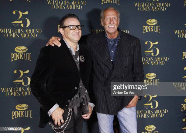 Seth Weisser and Frank Bober attend the What Goes Around Comes Around 25th Anniversary Party at Gitano on September 8 2018 in New York City