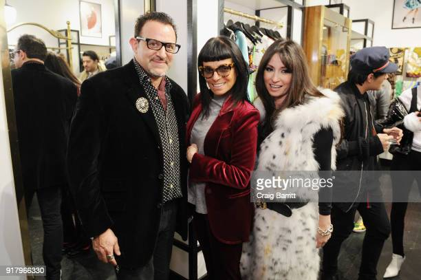 Seth Weisser Norma Kamali and Stacy Weisser attend Vintage For The Future A Norma Kamali Retrospective by What Goes Around Comes Around on February...