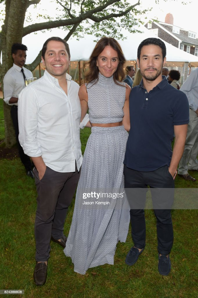Seth Weissman, Alison Loehnis and Joseph Altuzarra attend The GOOD+ Foundation's Hamptons Summer Dinner co-hosted by NET-A-PORTER on July 29, 2017 in East Hampton, New York.