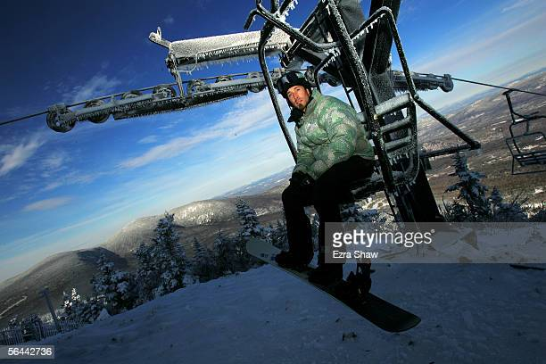 Seth Wescott, a member of the USA Olympic Snowboard team, poses for a portrait at Sugarloaf/USA in Carrabassett Valley, Maine. Wescott leads the U.S....