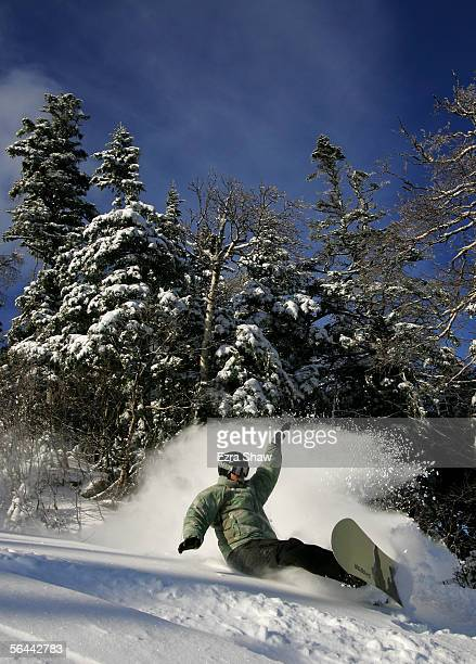 Seth Wescott, a member of the USA Olympic Snowboard team, rides his snowboard at Sugarloaf/USA in Carrabassett Valley, Maine. Wescott leads the U.S....