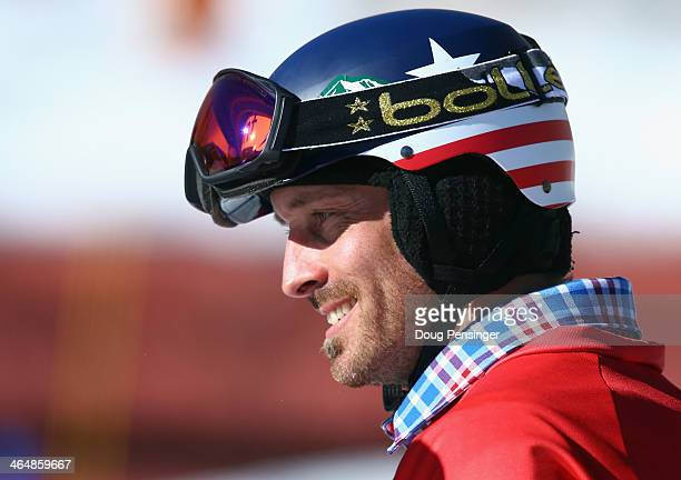 Seth Wescott looks on after being eliminatd in the quarterfinals of the men's Snowboarder X during Winter X-Games 2014 Aspen at Buttermilk Mountain...
