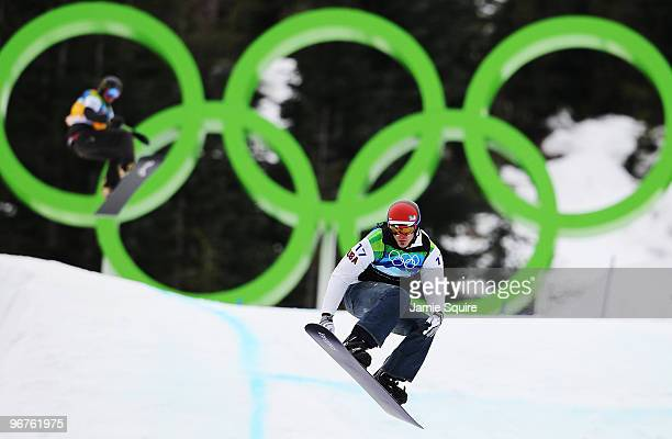 Seth Wescott of the United States competes in the men's SBX big final on day 4 of the Vancouver 2010 Winter Olympics at Cypress Snowboard & Ski-Cross...