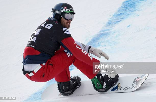 Seth Wescott of the USA takes a run during FIS Snowbaordcross World Cup Qualifications on December 18, 2009 in Telluride, Colorado. Wescott finished...