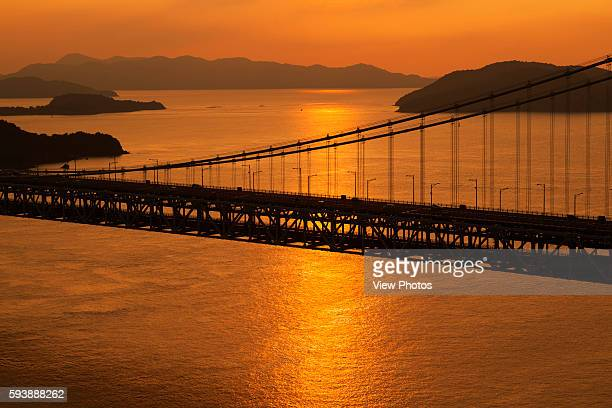 Seto Ohashi Bridge at Sunset