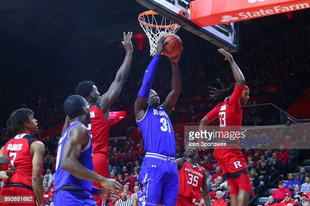 Seton Hall Pirates center Angel Delgado during the first half of the College Basketball game between the Seton Hall Pirates and the Rutgers Scarlet...