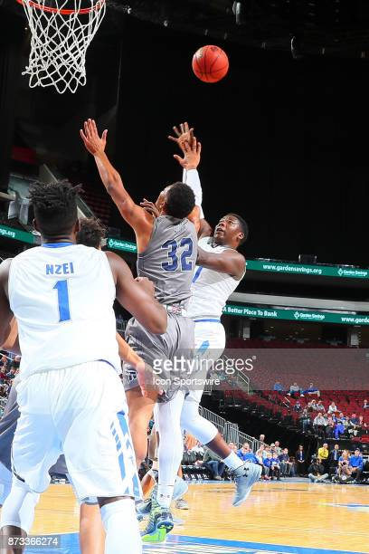 Seton Hall Pirates center Angel Delgado shoots during the College Basketball game between the Seton Hall Pirates and the Monmouth Hawks on November...