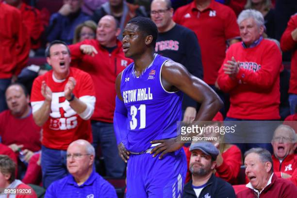 Seton Hall Pirates center Angel Delgado with his hands on his hips during the second half of the College Basketball game between the Seton Hall...
