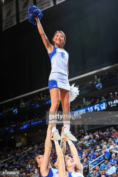 Seton Hall Pirates Cheerleaders during the College Basketball game between the Seton Hall Pirates and the Monmouth Hawks on November 12 2017 at the...