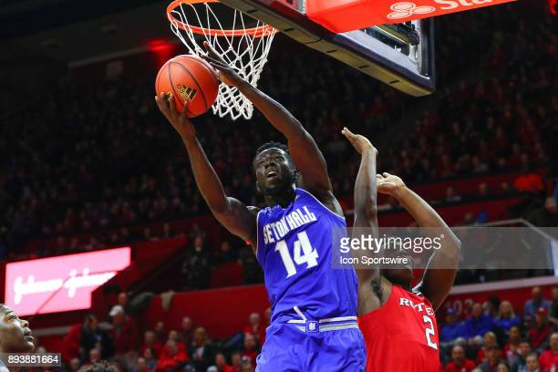Seton Hall Pirates forward Ismael Sanogo during the first half of the College Basketball game between the Seton Hall Pirates and the Rutgers Scarlet...