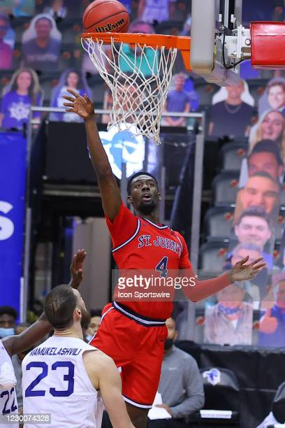 Seton Hall Pirates forward Tyrese Samuel goes to the basket during the second half of the college basketball game between the Seton Hall Pirates and...