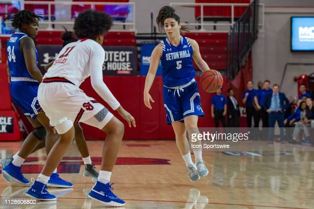 Seton Hall Pirates guard Inja Butina during the women's college basketball game between the Seton Hall Pirates and St John's Red Storm on March 3...