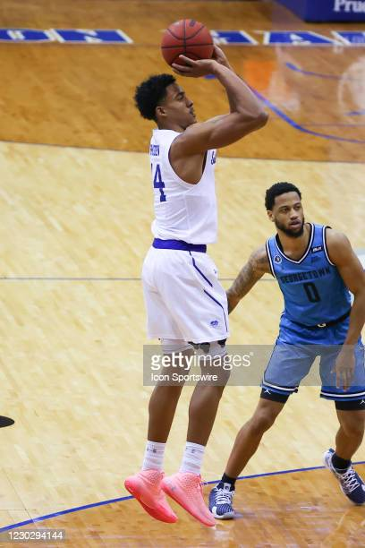 Seton Hall Pirates guard Jared Rhoden shoots during the college basketball game between the Seton Hall Pirates and the Georgetown Hoyas on December...