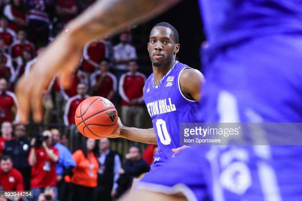 Seton Hall Pirates guard Khadeen Carrington brings the ball upcourt during the second half of the College Basketball game between the Seton Hall...