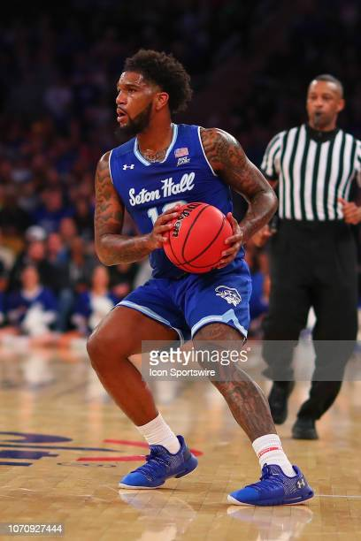 Seton Hall Pirates guard Myles Powell during the Citi Hoops Classic College Basketball game between the Kentucky Wildcats and the Seton Hall Pirates...