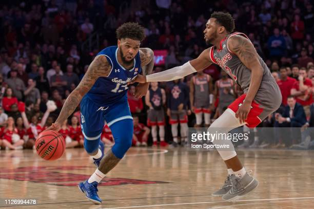Seton Hall Pirates guard Myles Powell during the college basketball game between the Seton Hall Pirates and the St John's Red Storm on February 2019...